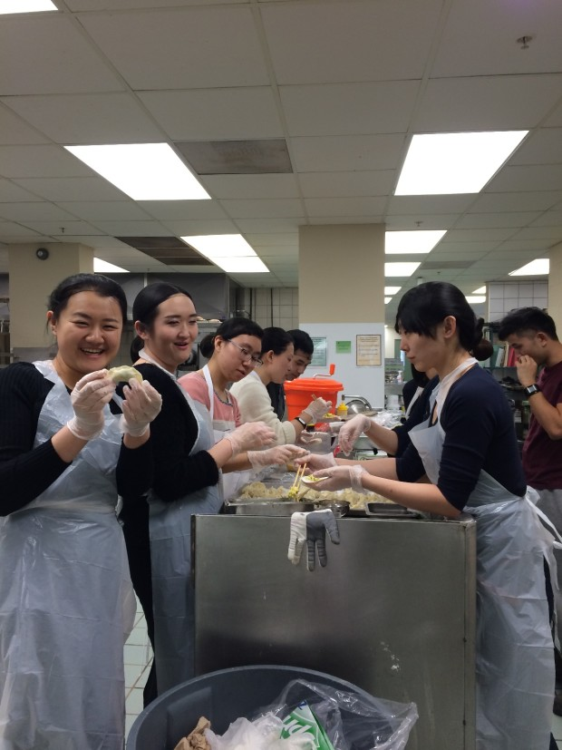 Making dumpling to celebrate Chinese New Year at MSVU